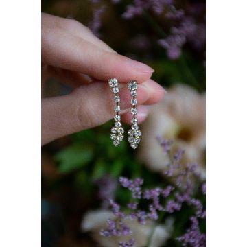 Uhani Diamond Rose Drop / The Diamond Rose Drop Earrings