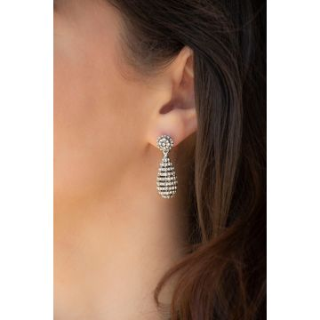 Uhani Mini Diamond Audrey / The Mini Diamond Audrey Earrings