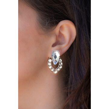 Uhani Diamond Shell / The Diamond Shell Earrings