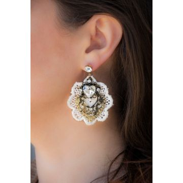Uhani Gold Lace / Gold Lace Earrings